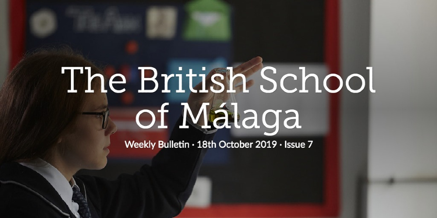 Weekly Bulletin 18th October 2019
